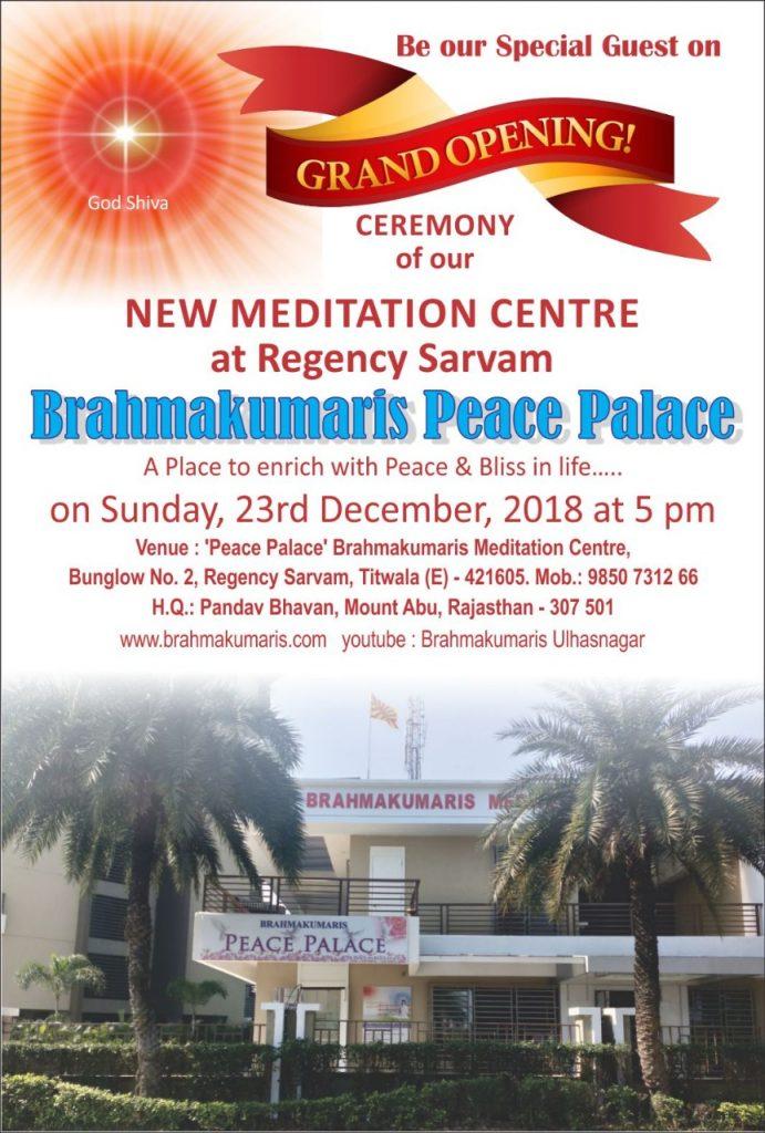 23rd Dec :New Meditation Centre at Regency Sarvam, Titwala